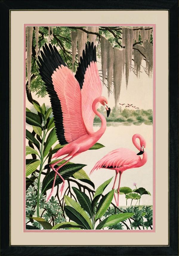 Vintage Flamingo Print